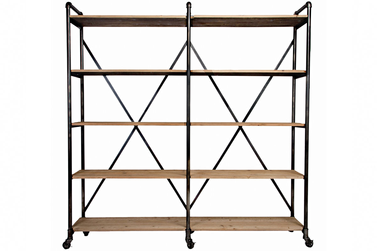 ludlow metal and wood shelf from furniture