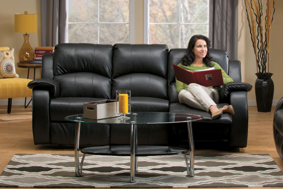 Tahoe Bonded Leather Reclining Sofa At Gardner White