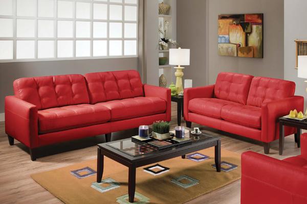 Milano Red Sofa Loveseat At Gardner White