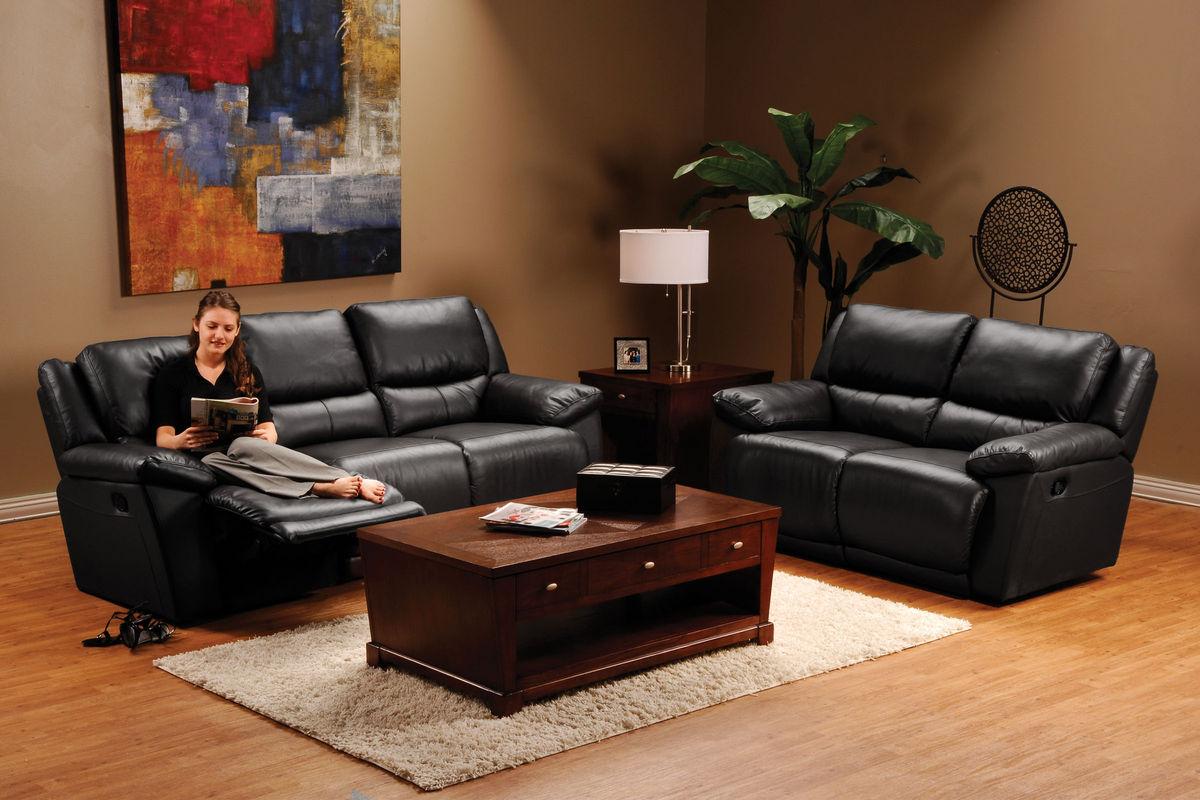 set black power reclining loveseat and recliner pulsar pin sofa