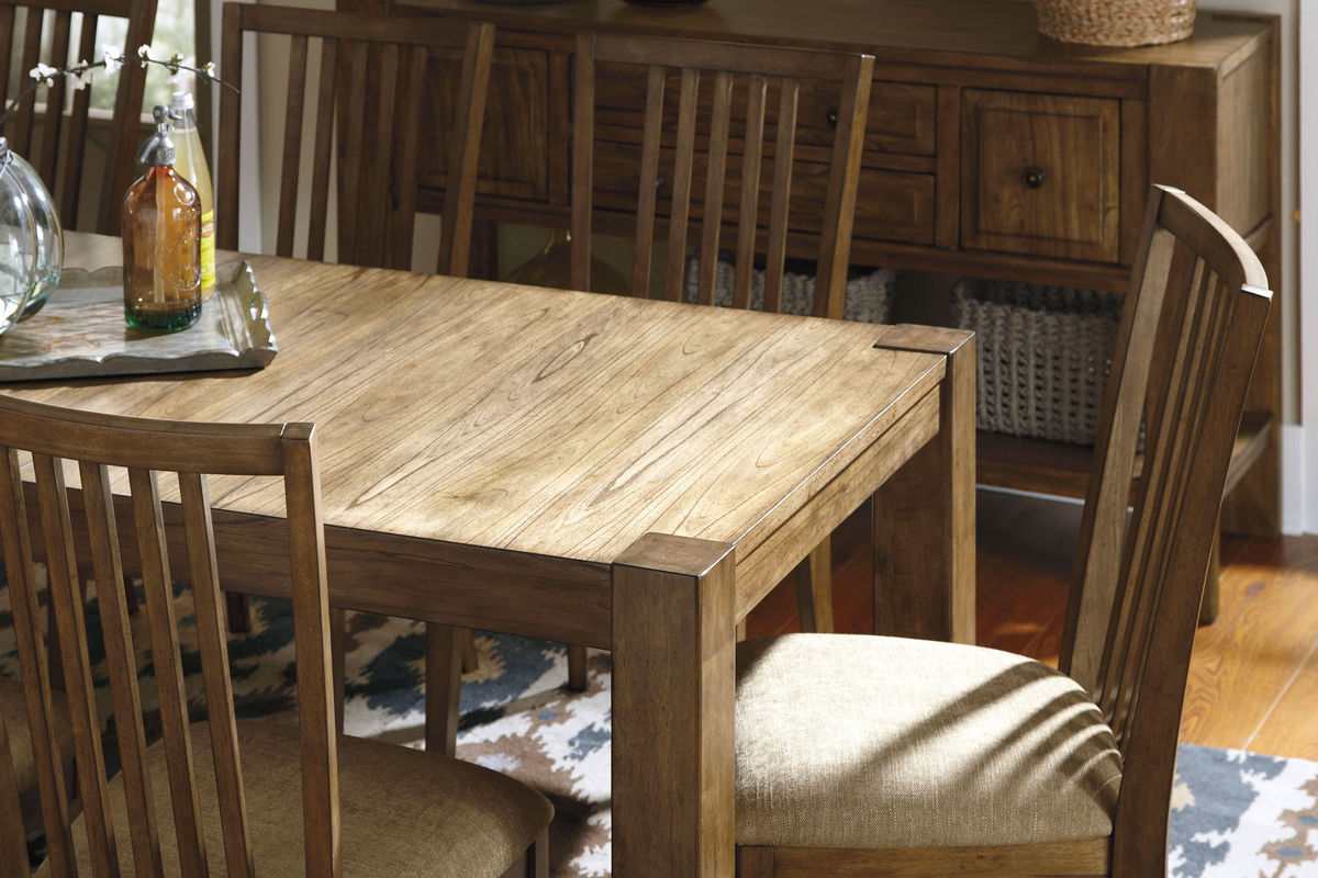 birnalla dining table and 6 side chairs