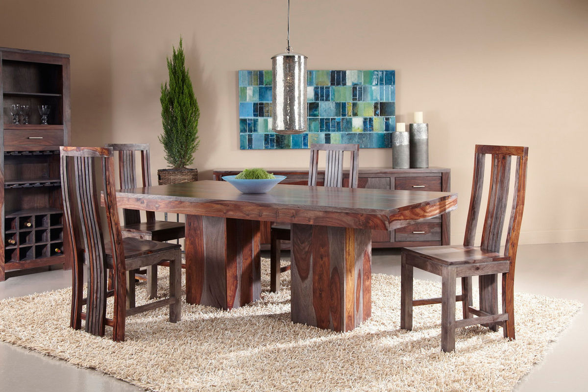 Zebrano Dining Set With Six Side Chairs From Gardner White Furniture