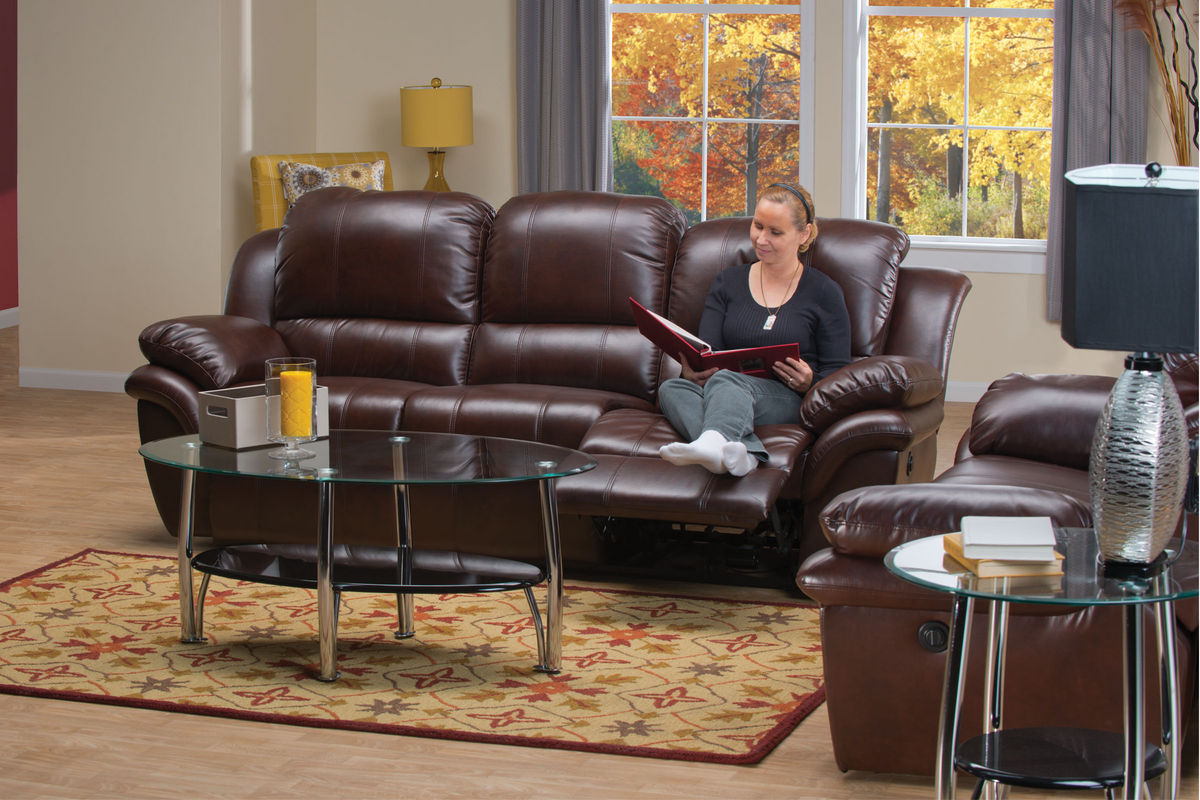 Blair Leather Power Reclining Sofa