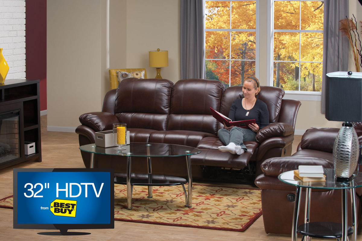 Blair Power Reclining Leather Sofa, Loveseat & 32\