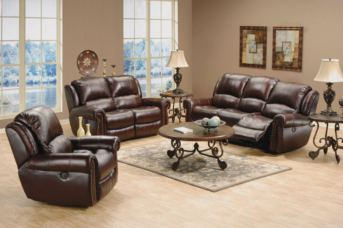 Dallas Leather Power Reclining Loveseat