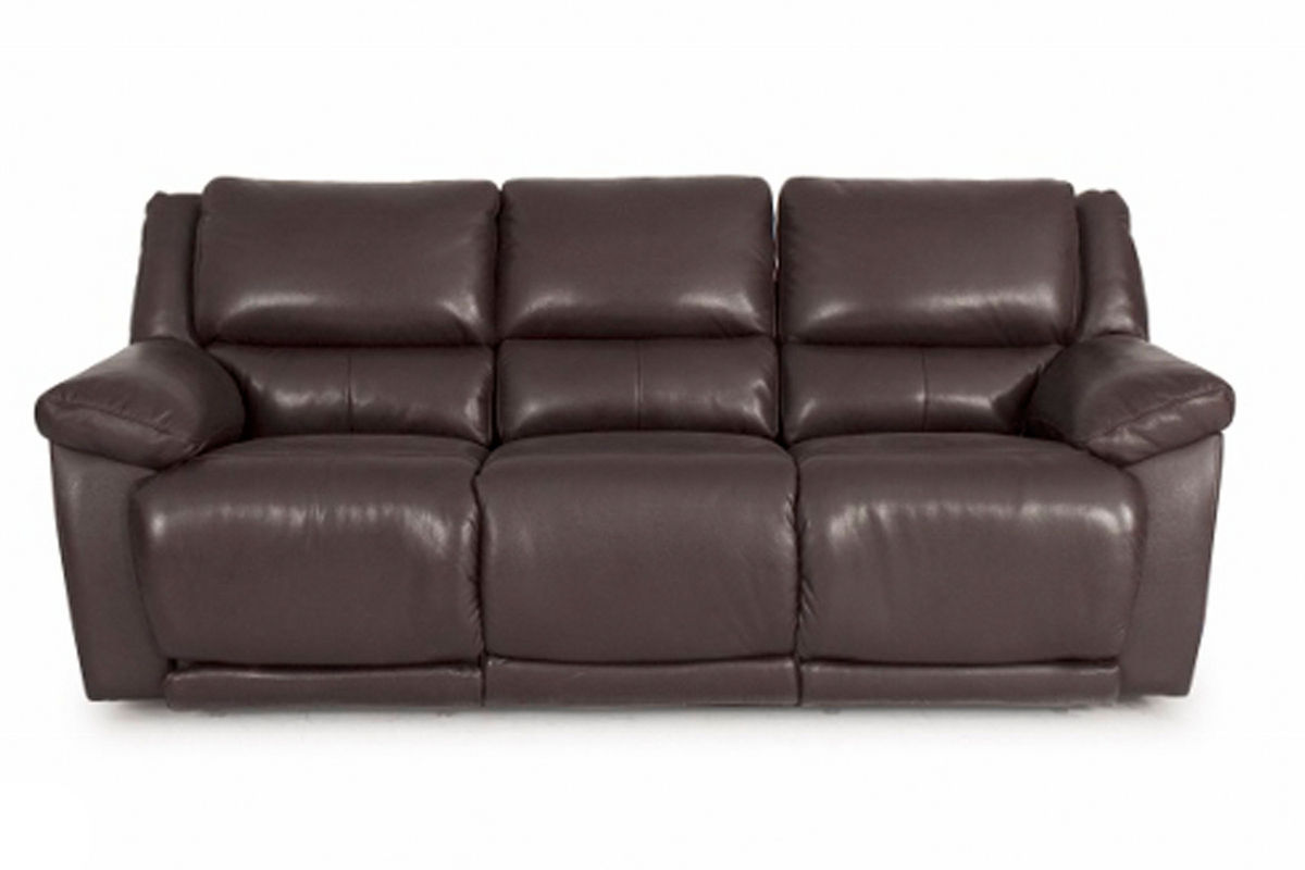 Delray Reclining Brown Leather Sofa