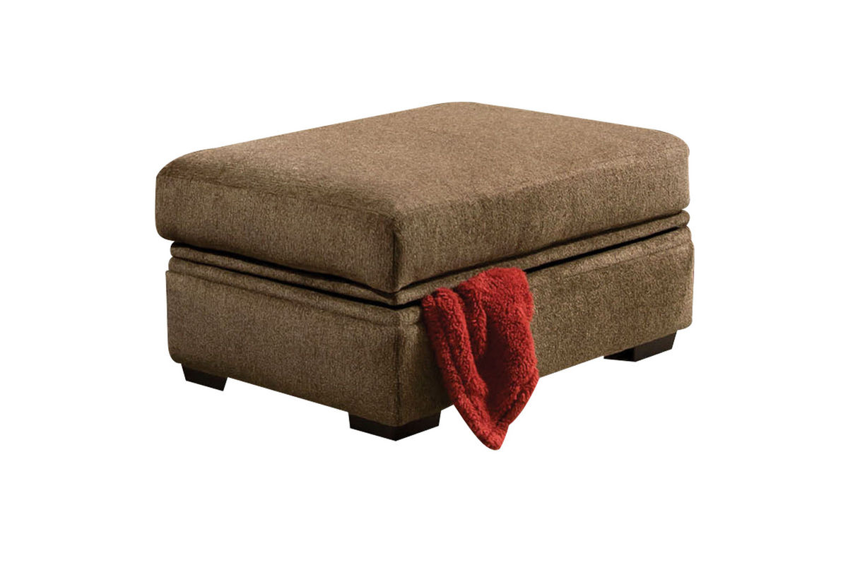 Fillmore chenille storage ottoman at gardner white for Gardner storage
