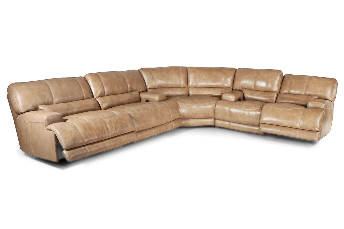 Off White Leather Sectional