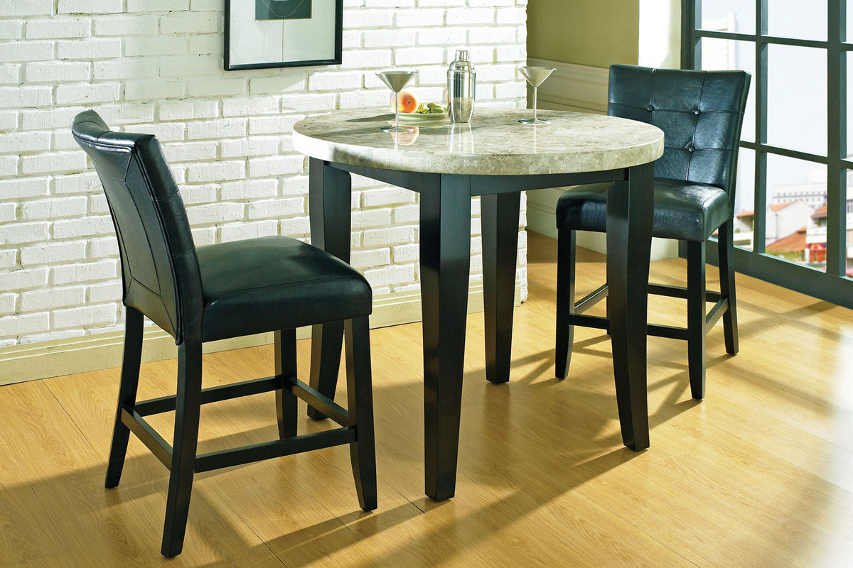 Monarch Round Pub Table U0026 4 Stools From Gardner White Furniture