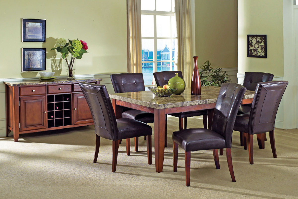 Montibello Dining Table6 Chairs