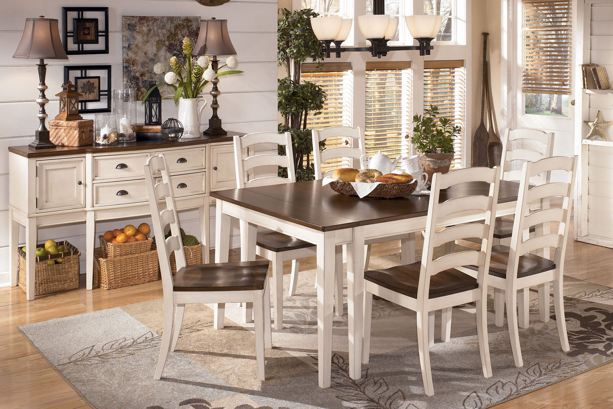 Sensational Whitesburg Dining Table 6 Side Chairs Interior Design Ideas Apansoteloinfo