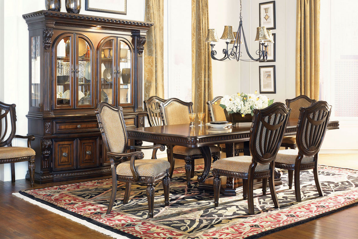 Cabernet Pedestal Table, 4 Side Chairs + 2 Arm Chairs