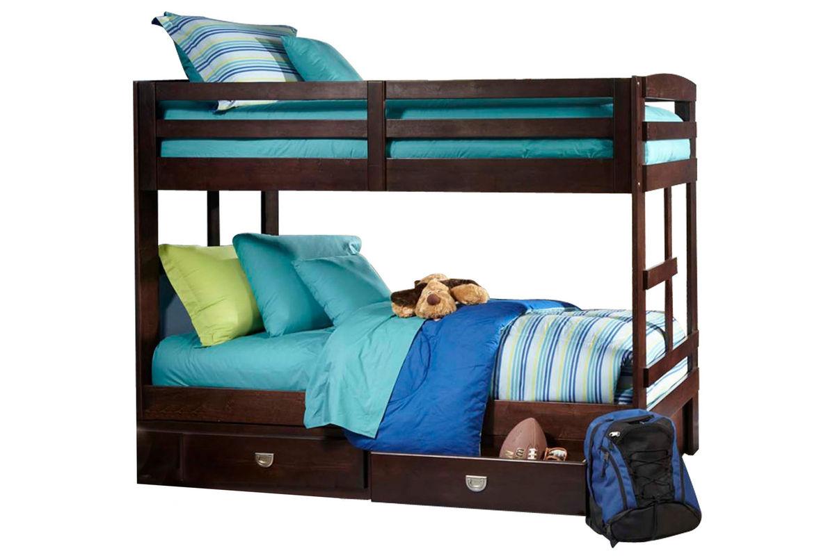 university twin bunk bed with storage trundle at gardner white. Black Bedroom Furniture Sets. Home Design Ideas