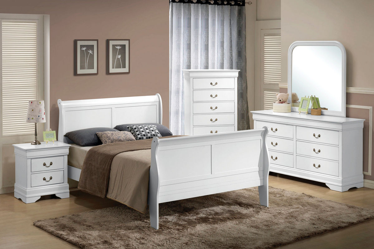 Powell White Twin Bedroom In A Box: Serena Twin Sleigh Bed At Gardner-White