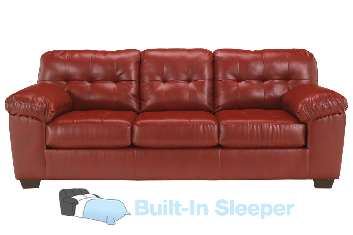 Salsa Bonded Leather Queen Sleeper Sofa From Gardner White Furniture