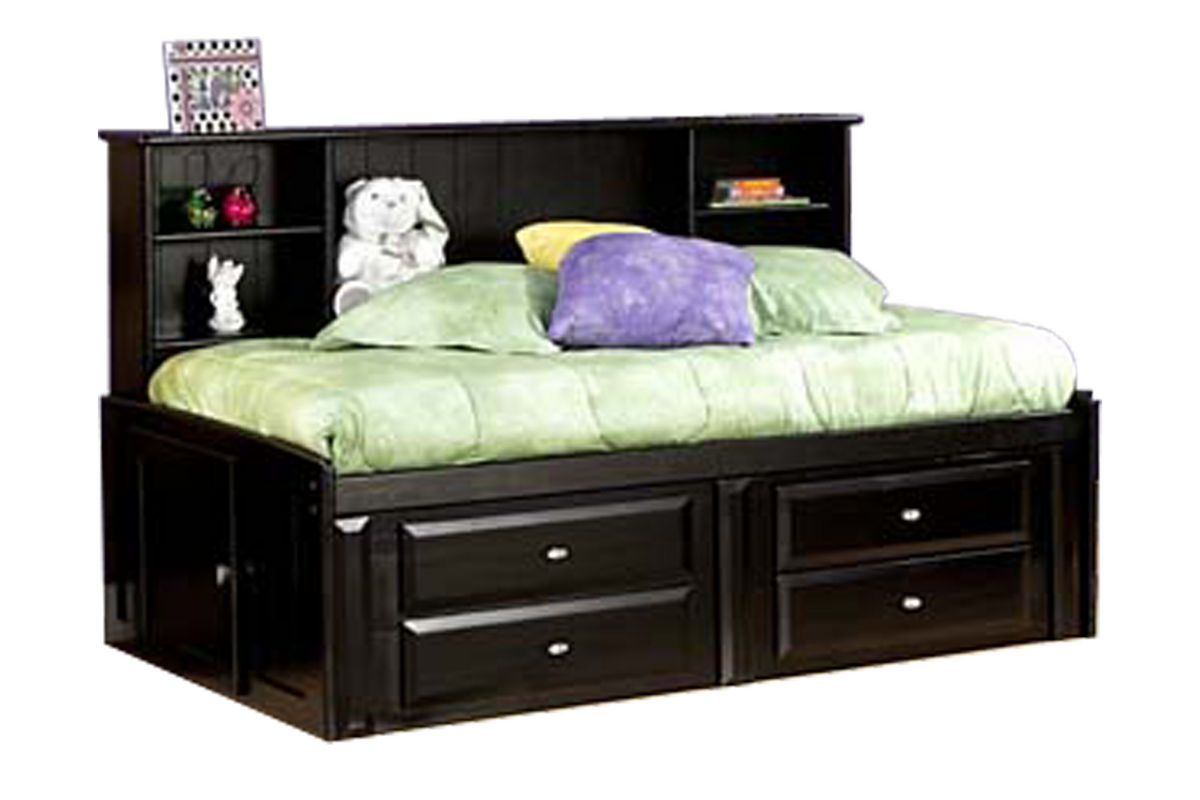 Laguna Black Twin Roomsaver Bed from Gardner-White Furniture