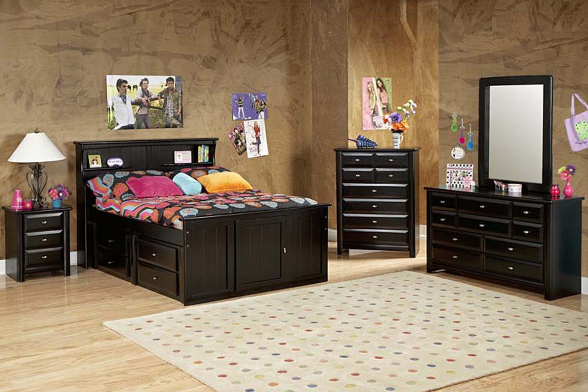 Laguna Black Twin Bookcase Bed at Gardner-White