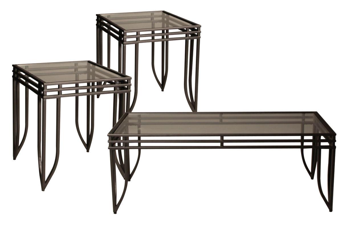 Modern Metal Cocktail Table & 2 End Tables At Gardner-White