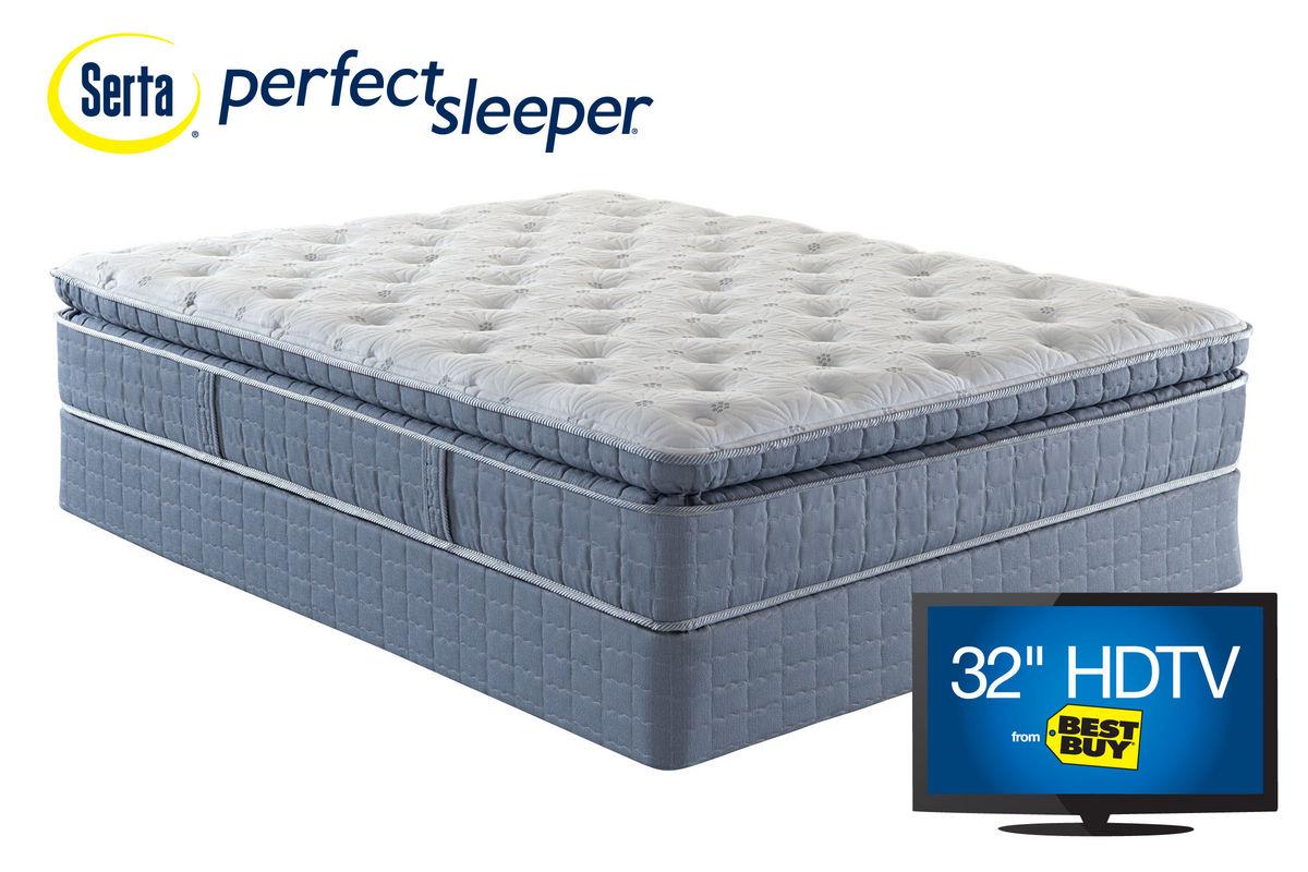Serta Perfect Sleeper Harwood Super Pillowtop Queen Mattress