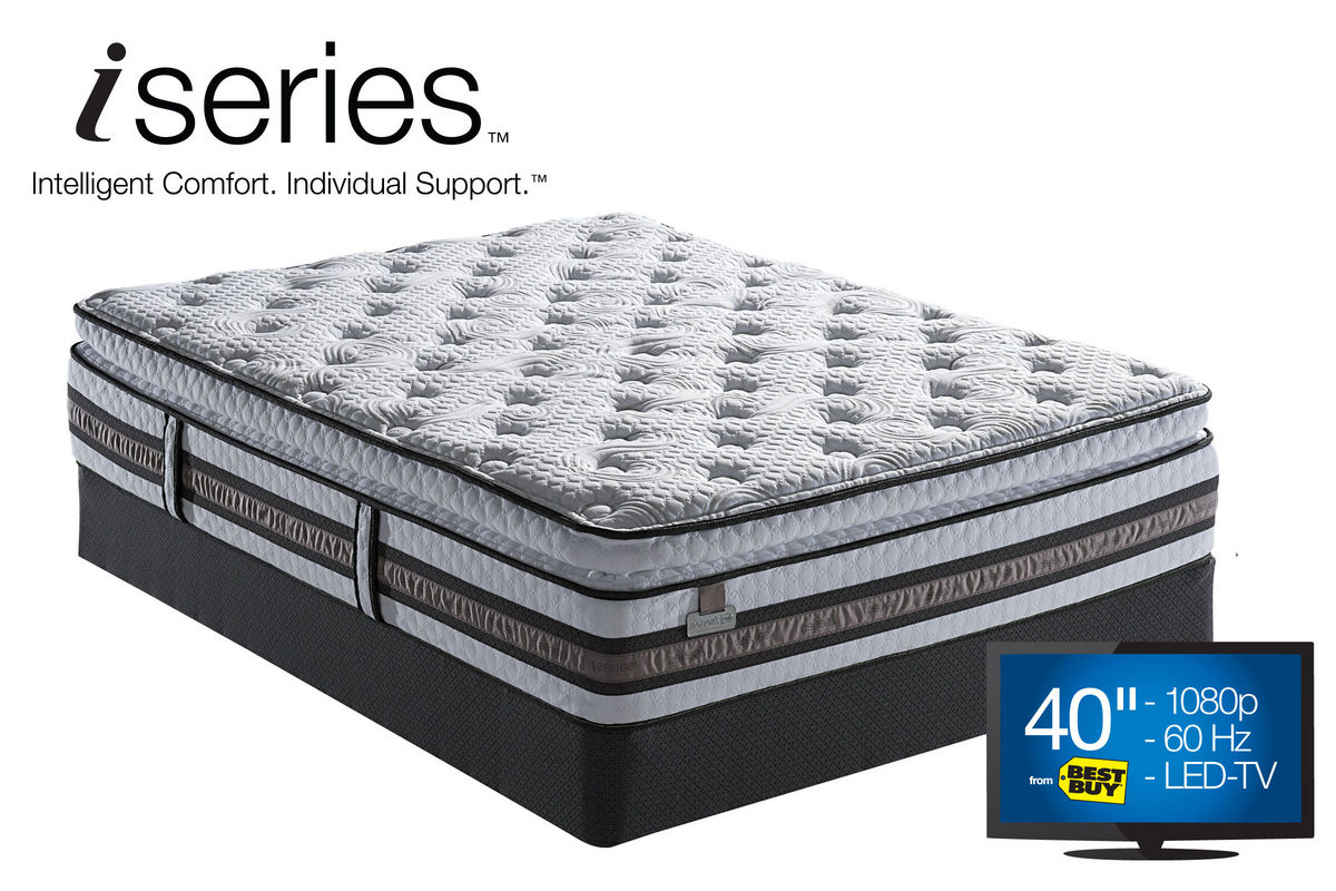 Queen Pillow Top Mattress Serta Iseries Perfect Day