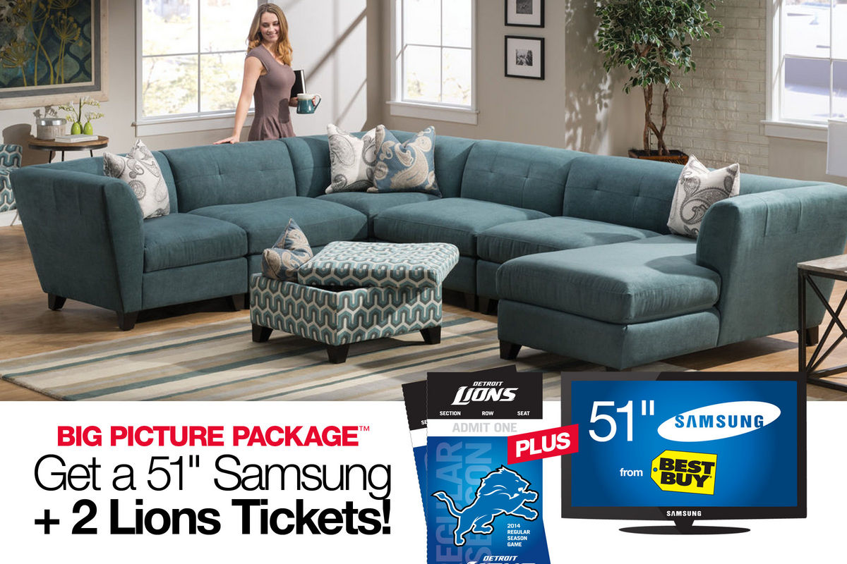 Tate big picture package with 51 tv 2 detroit lions tickets