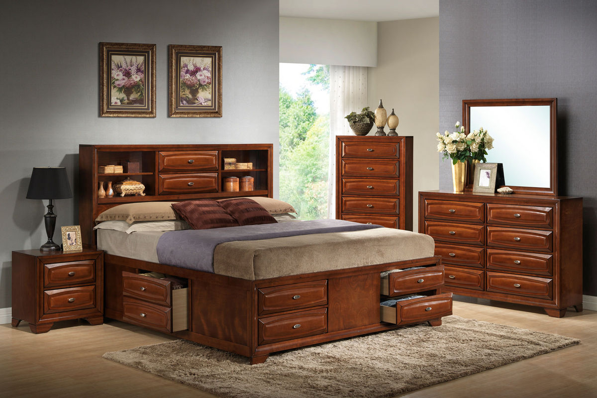 Roswell queen storage bed at gardner white for Gardner storage