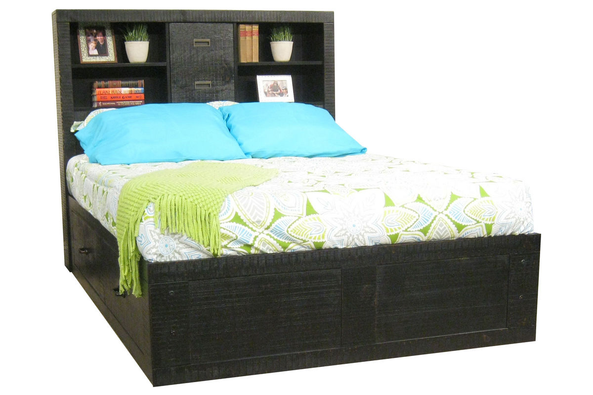 black full captains bed from furniture