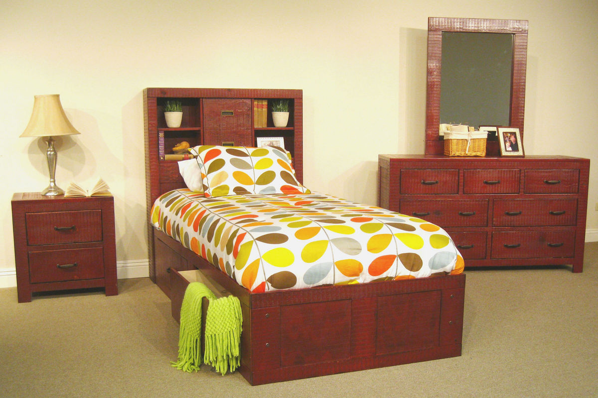 red twin captains bed at gardner white. Black Bedroom Furniture Sets. Home Design Ideas