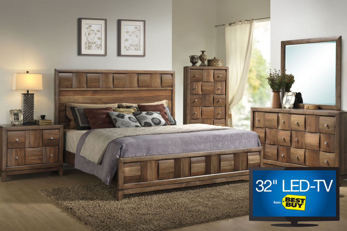 samba queen bedroom set with 32 led tv