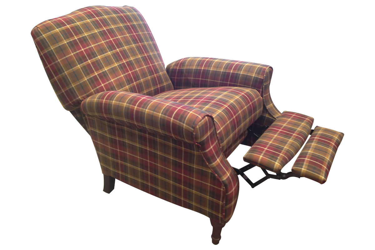Dory Plaid Accent Recliner At Gardner White