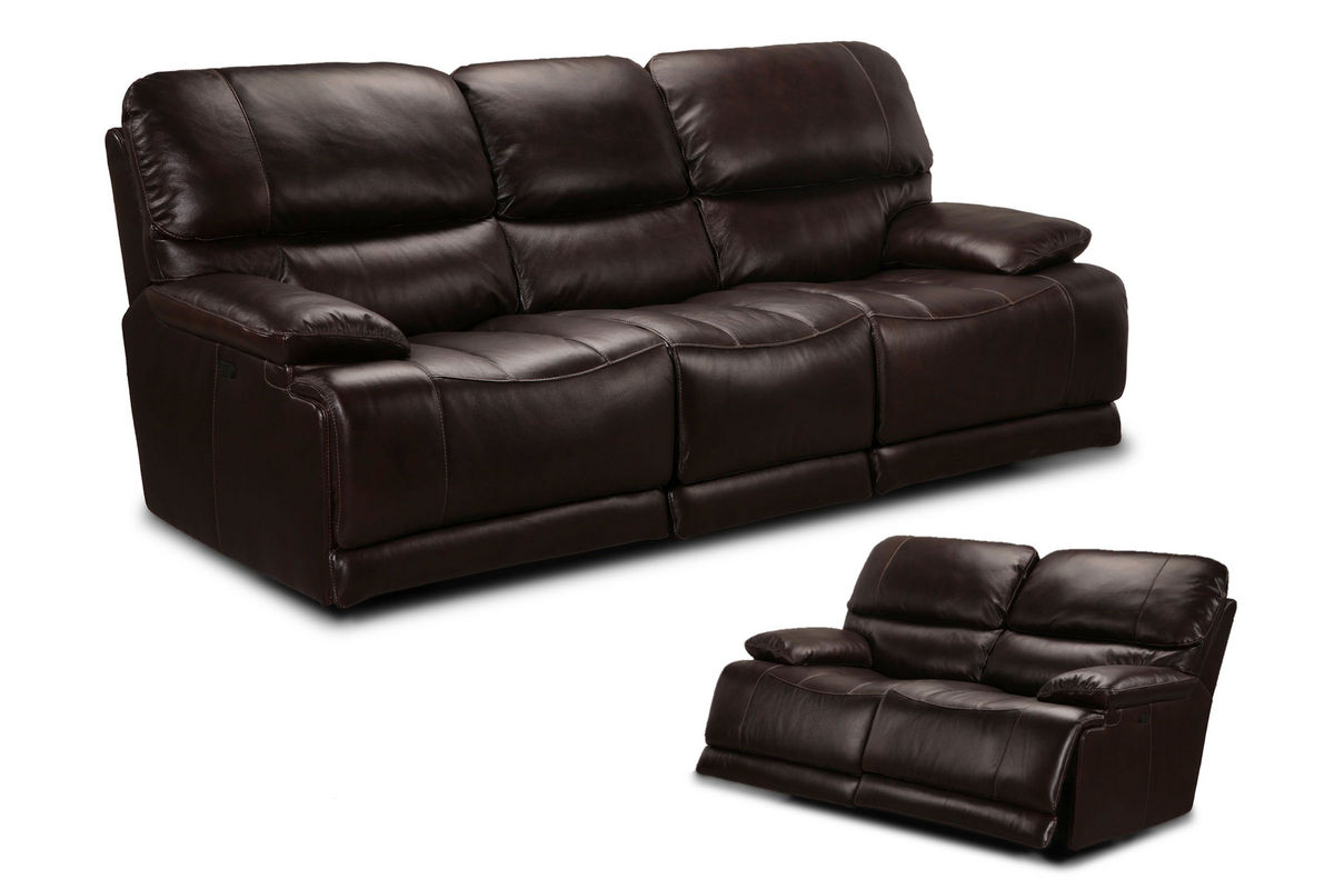 El paso leather reclining loveseat at gardner white for Sectional sofas el paso texas