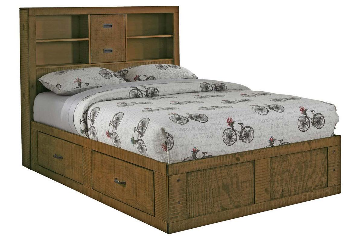 Honey full captains bed at gardner white Captains bed full