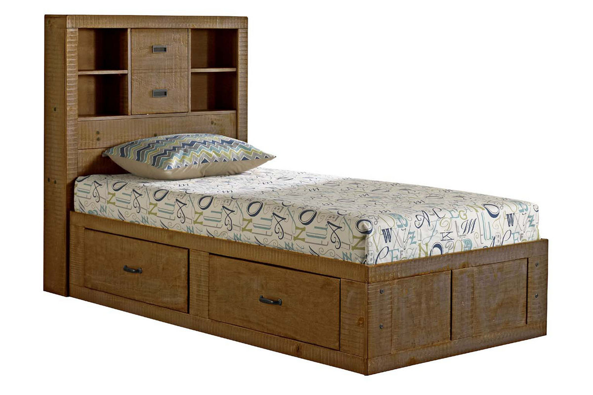 Honey Twin Captains Bed At Gardner White