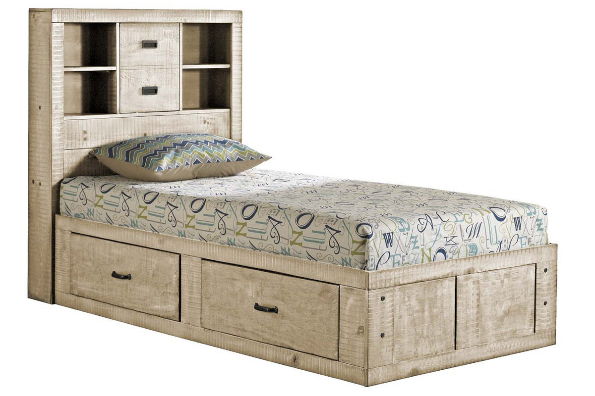 White captain bed twin - White Twin Captains Bed From Gardner White Furniture