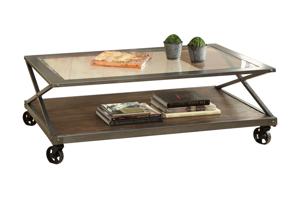 Rustic Criss Cross Cocktail Table from Gardner-White Furniture