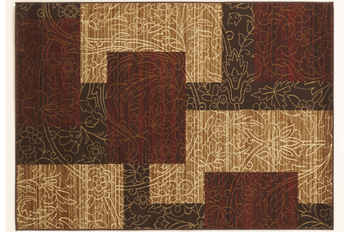 Rosemont Medium Rug In Red Brown Gold By Ashley 174 At