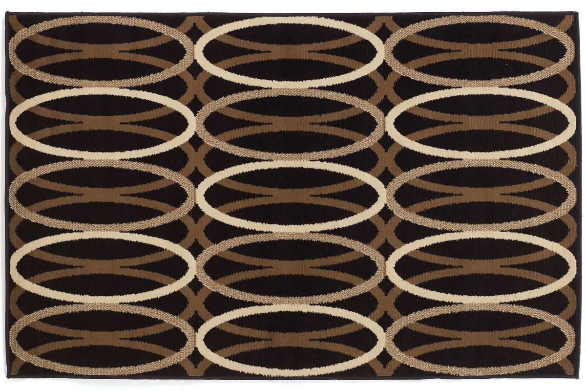Kyle Medium Rug in Black/Brown by Ashley from Gardner-White Furniture