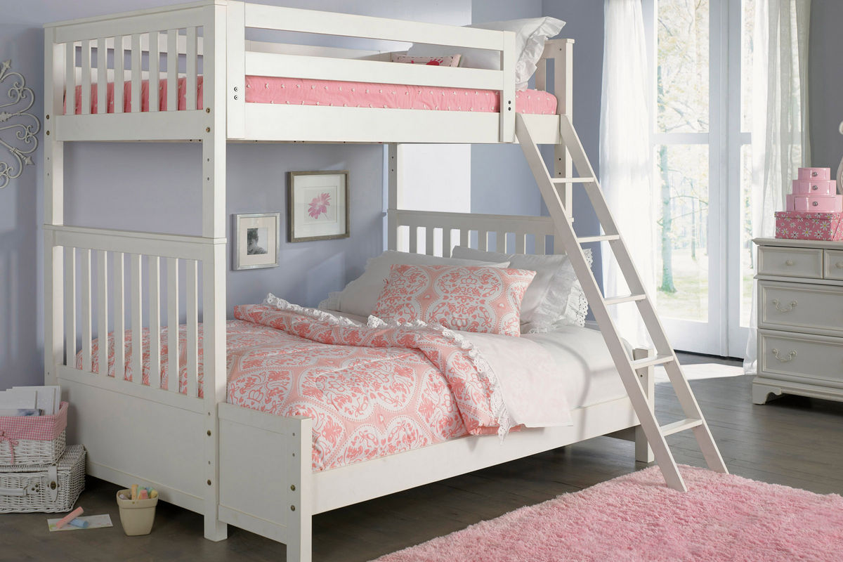 arielle twin over full bunk bed with trundle at gardner white. Black Bedroom Furniture Sets. Home Design Ideas