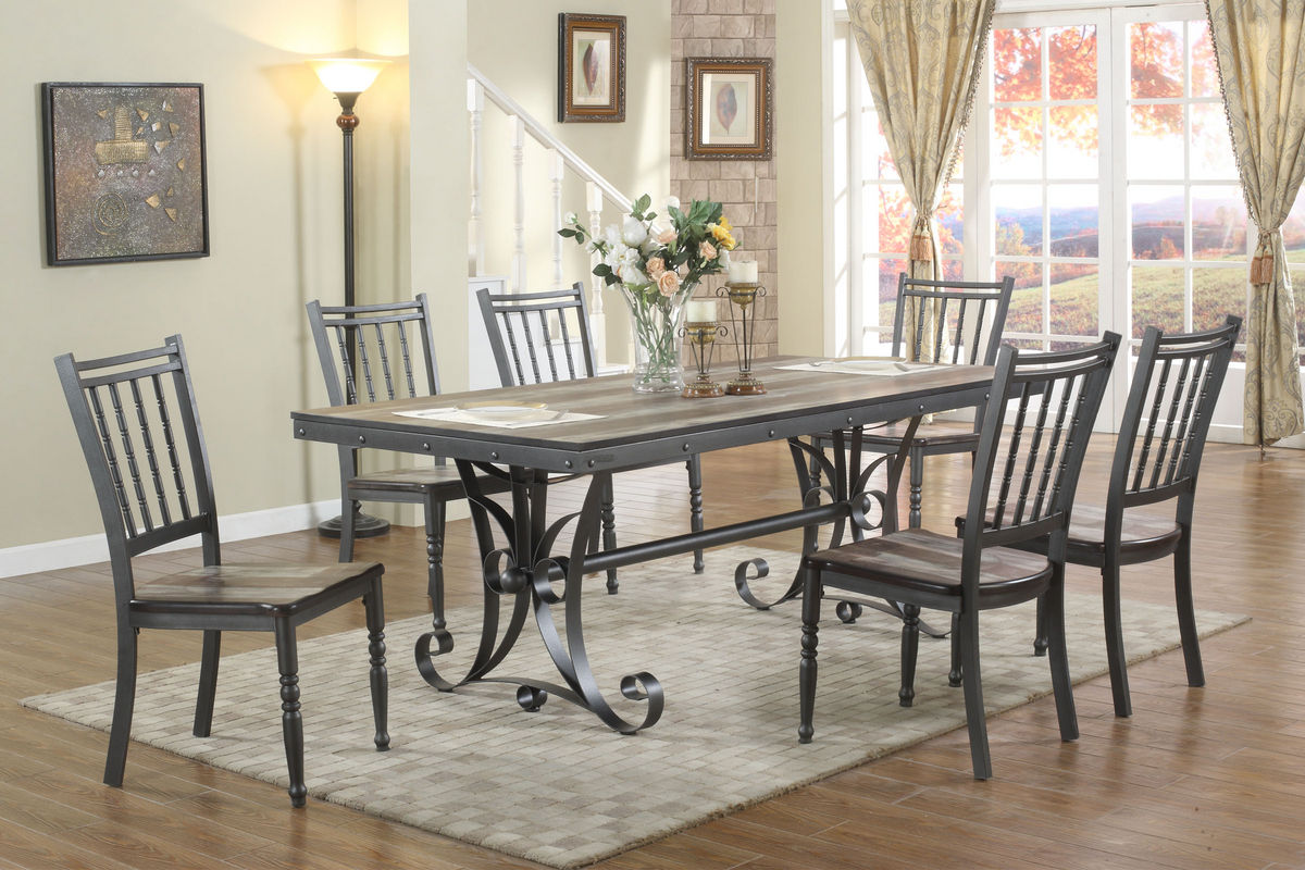 Walker Dining Set With 6 Side Chairs At Gardner White