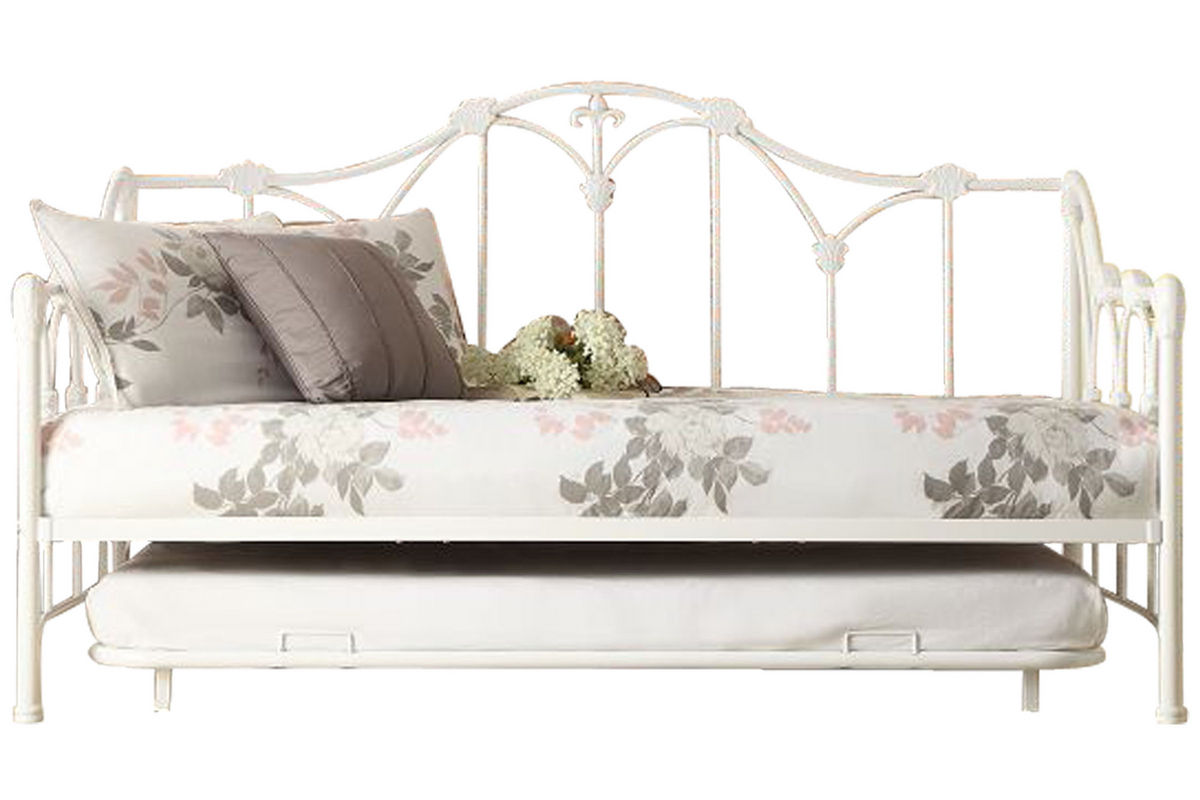 Amber White Daybed with Trundle from Gardner-White Furniture