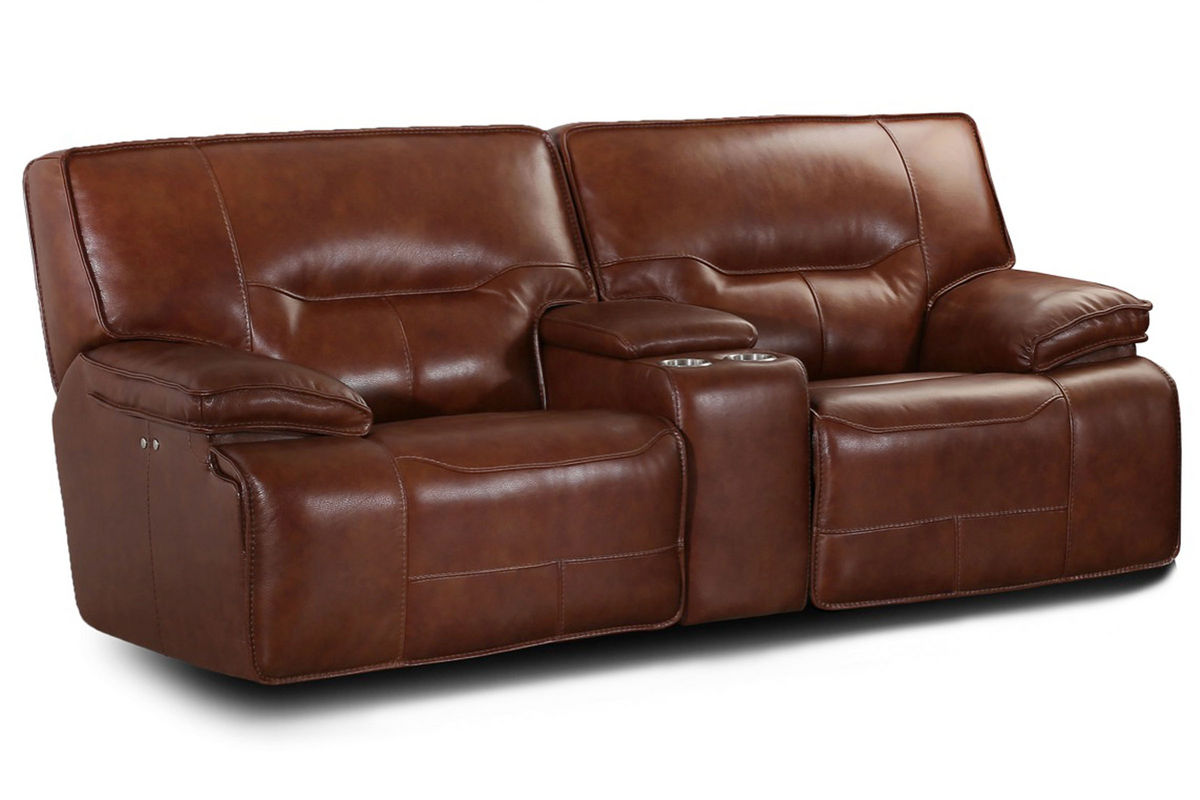 Drake Leather Power Reclining Loveseat At Gardner White