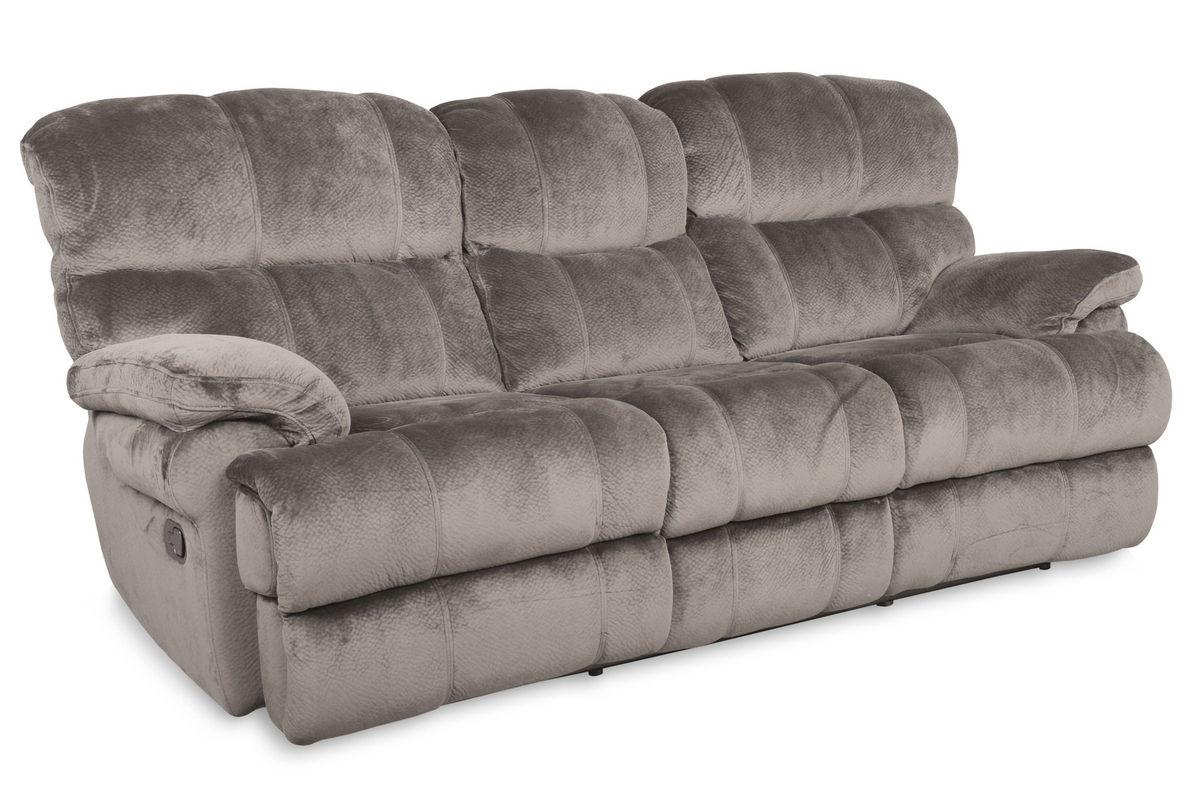 Strange Smoky Microfiber Power Reclining Sofa At Gardner White Gamerscity Chair Design For Home Gamerscityorg