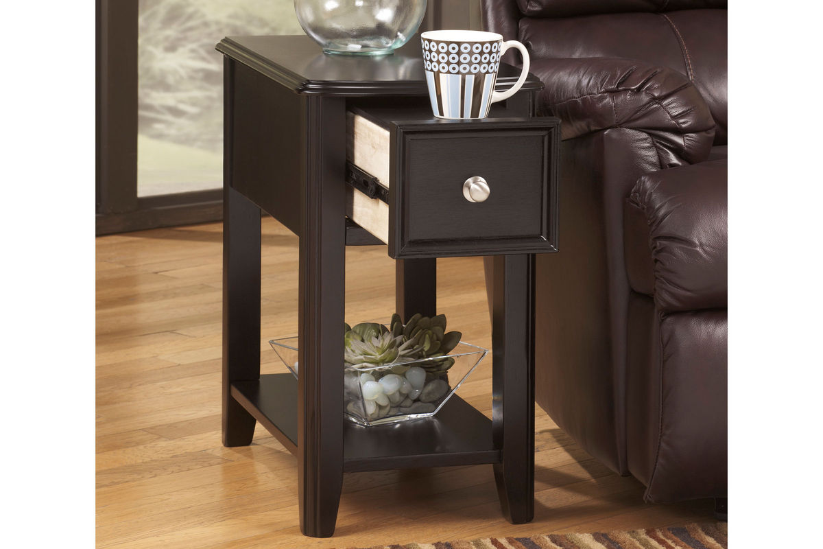 Almost Black Chair Side End Table T007 371 At Gardner White