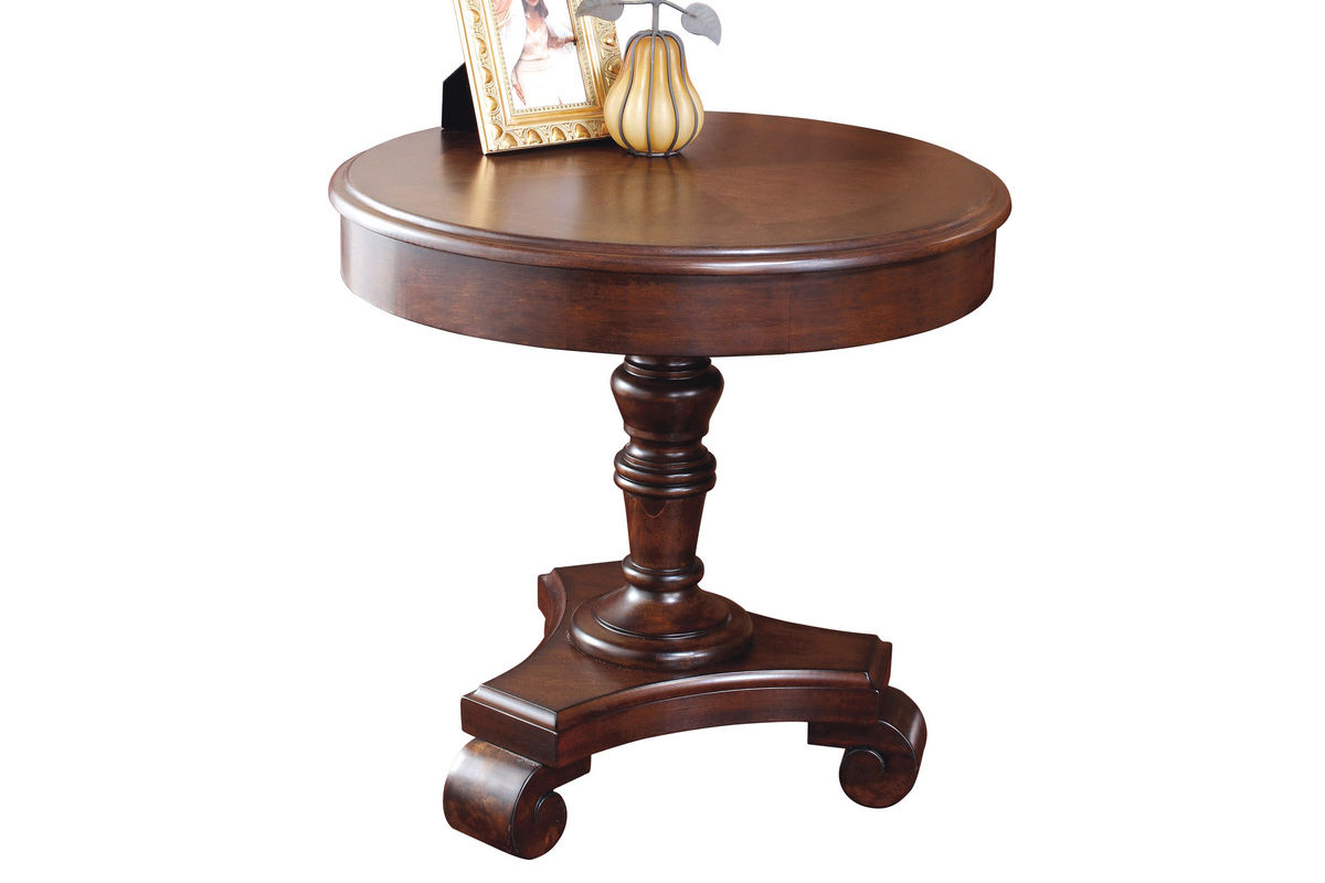brookfield round end table - brookfield round end table from gardnerwhite furniture