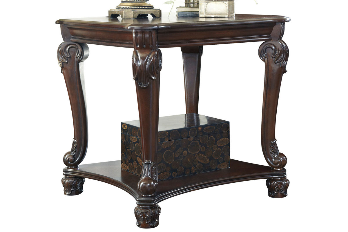 norcastle square end table in brown by ashley - norcastle square end table in brown by ashley from gardnerwhite furniture