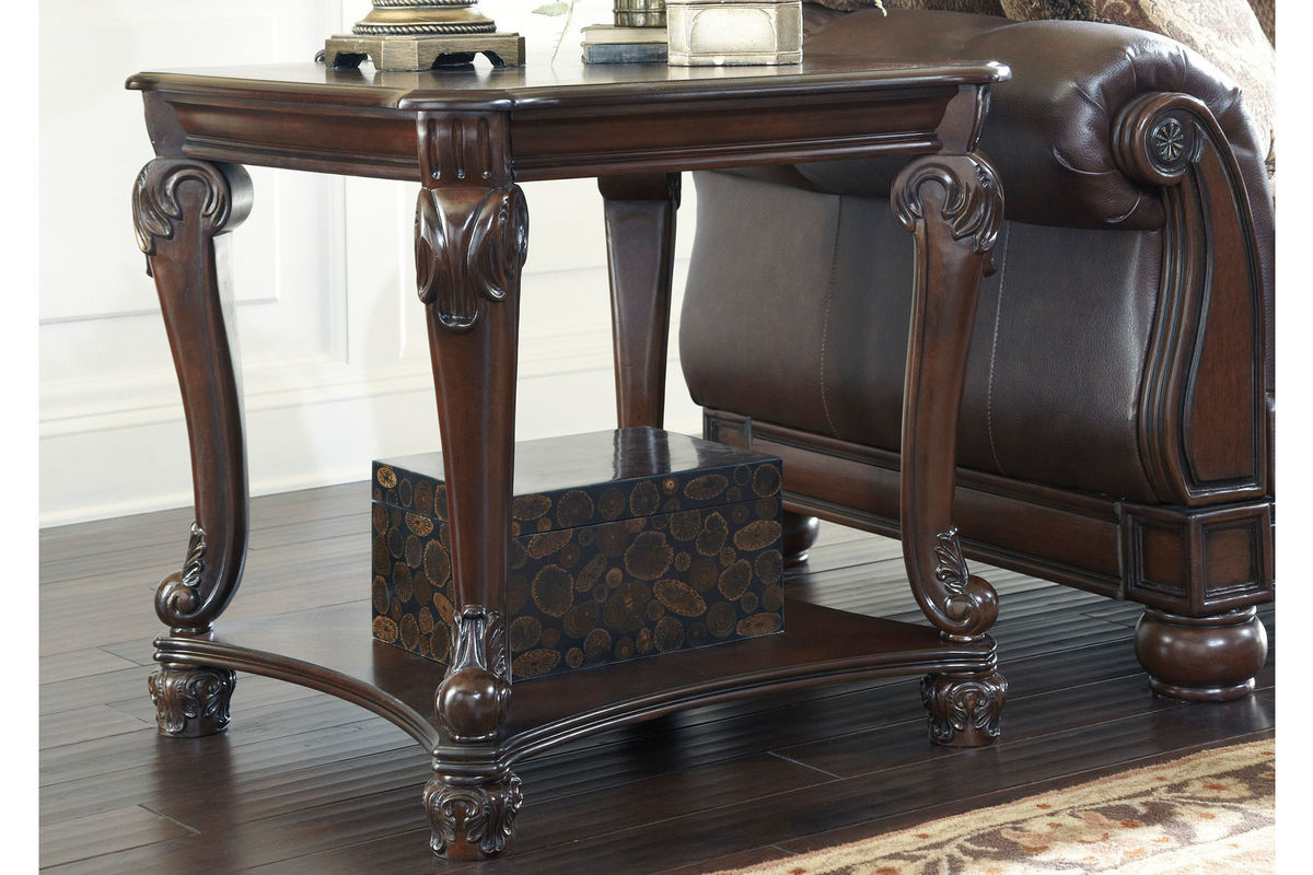 Norcastle Square End Table In Brown By Ashley At Gardner White