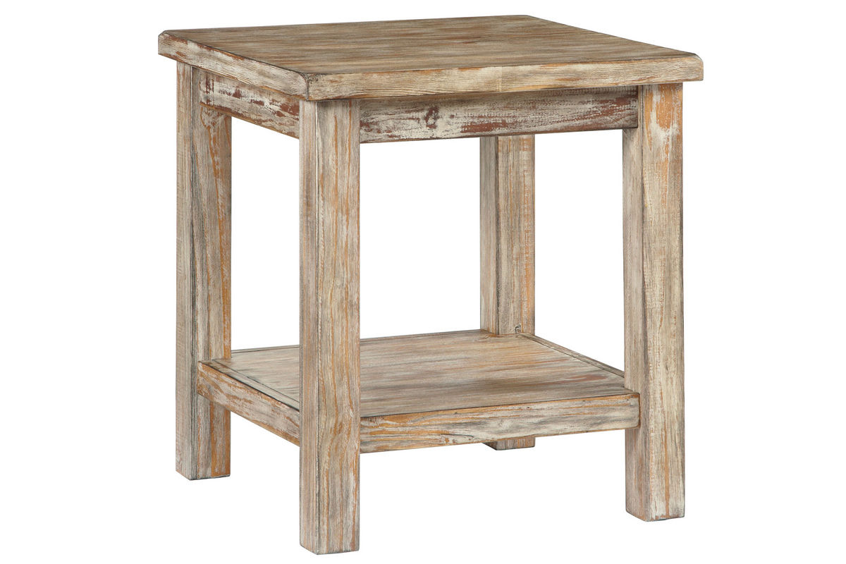 Vennilux Chair Side End Table In Bisque By Ashley At