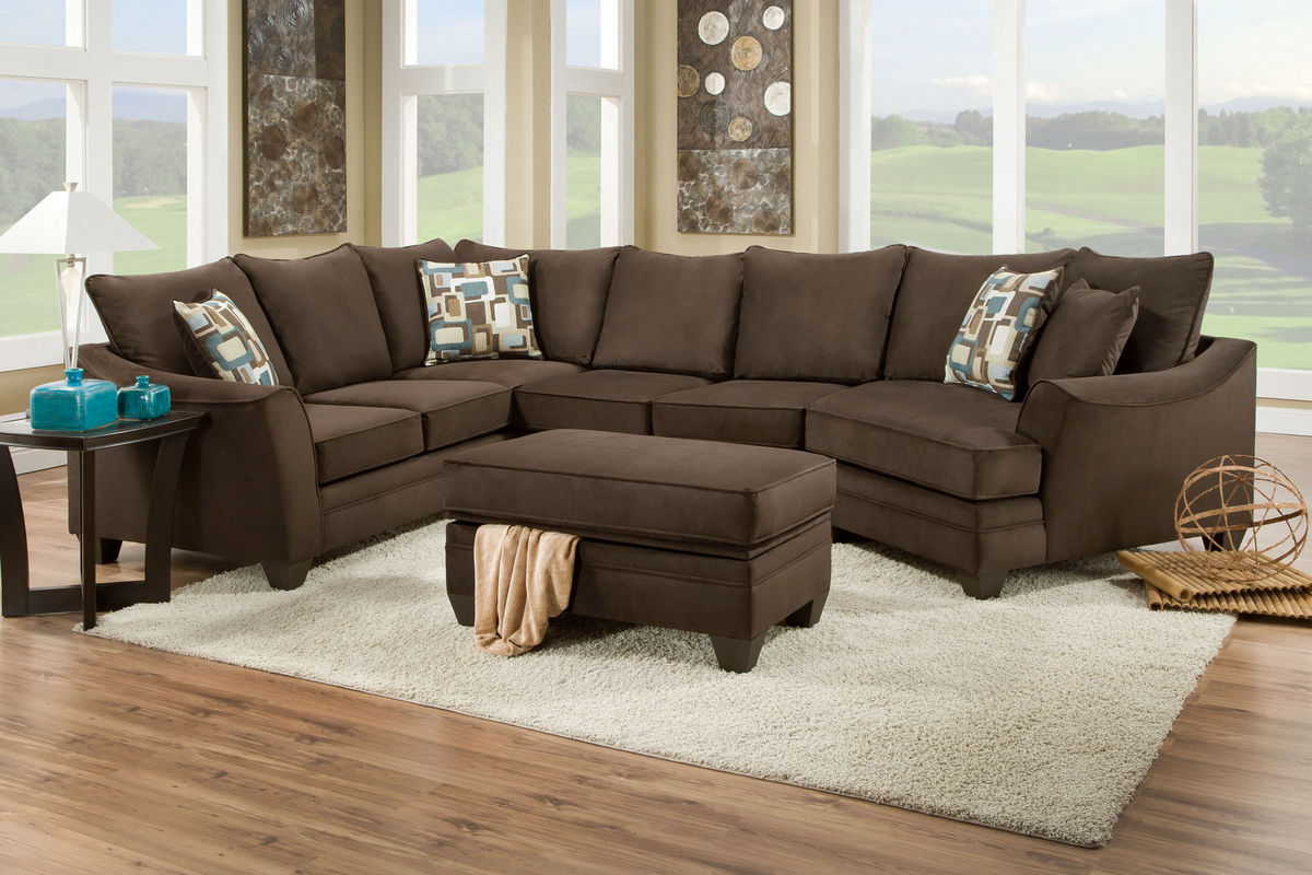 : 3 piece microfiber sectional - Sectionals, Sofas & Couches