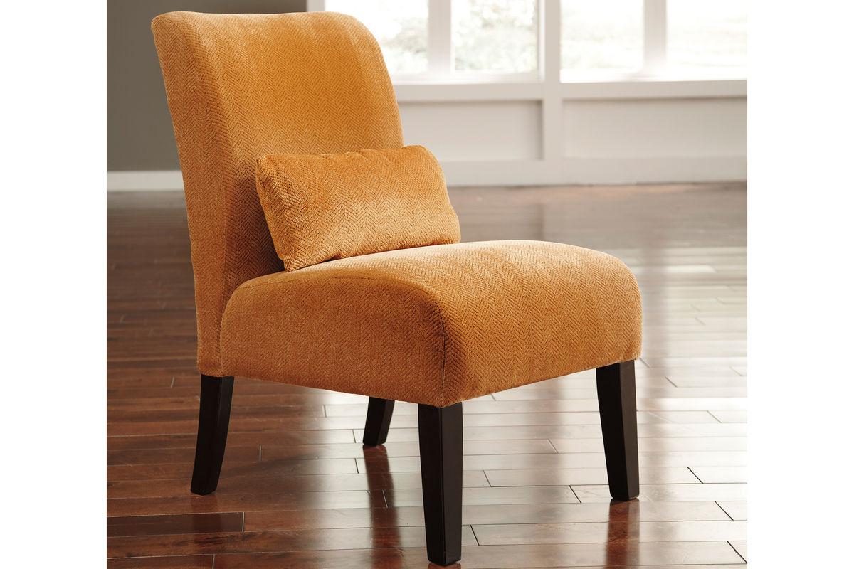 Orange accent chair - Share