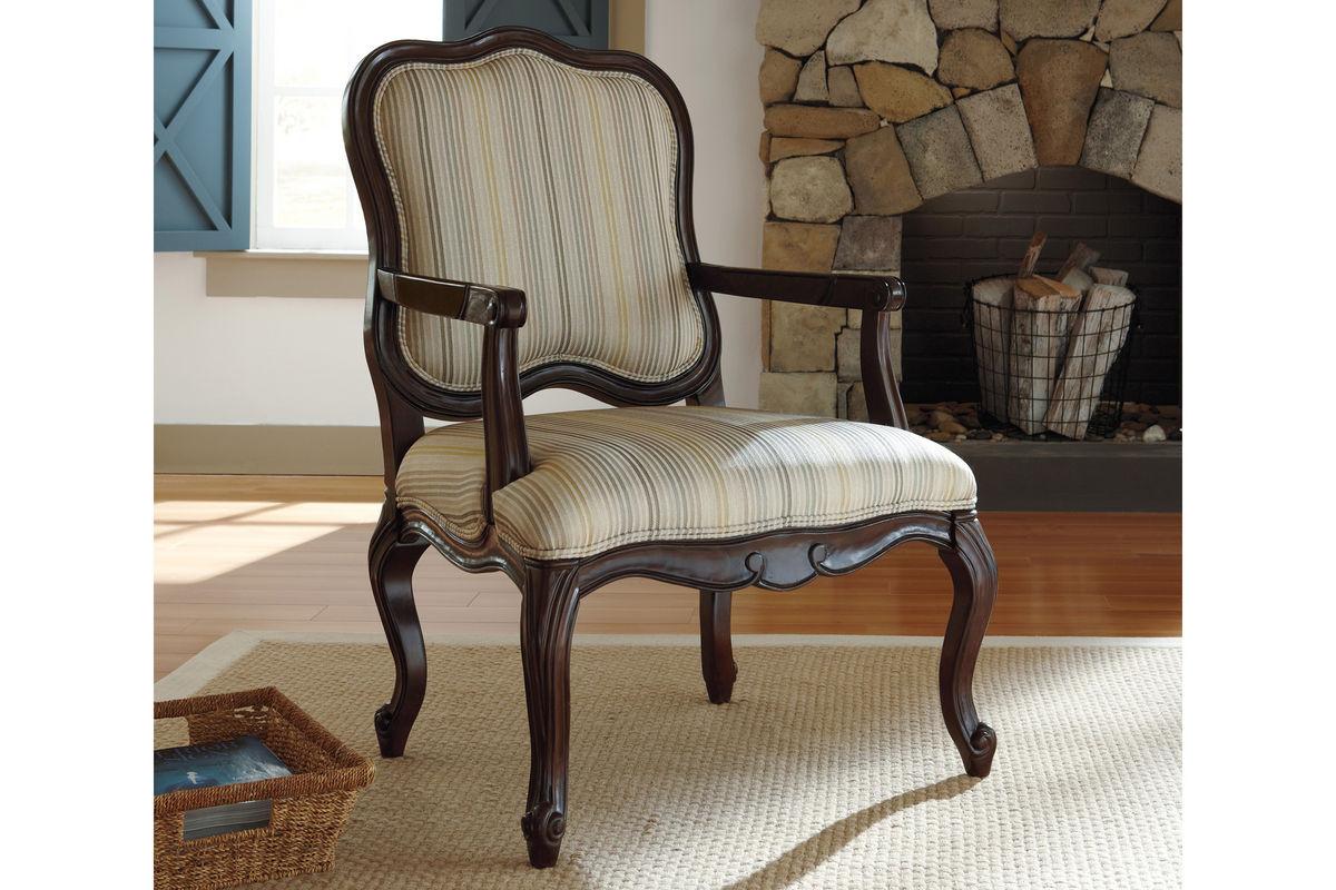 Hindell Park Linen Accent Chair 1680460FDROP 170629
